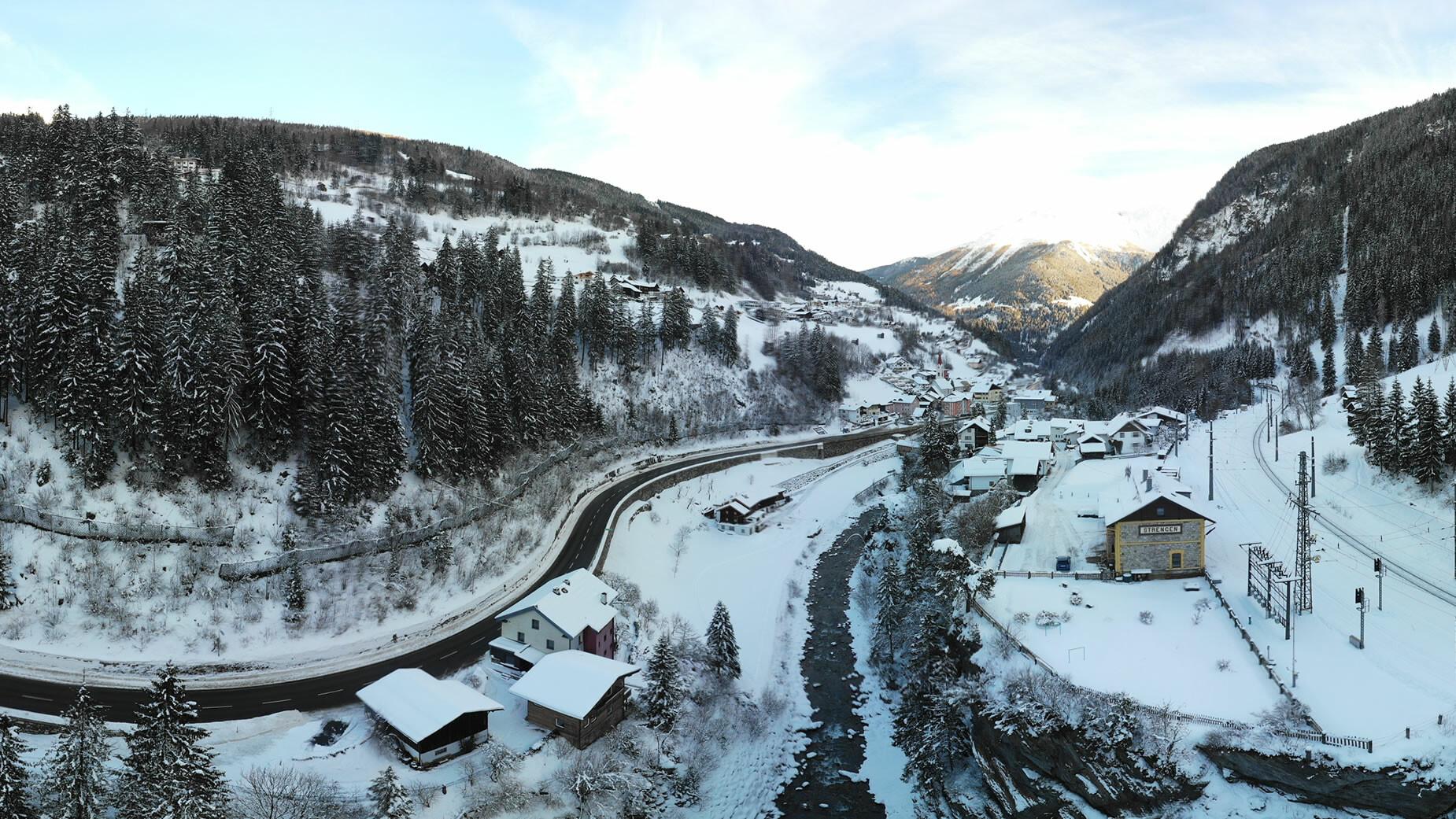 Panorama Strengen im Winter