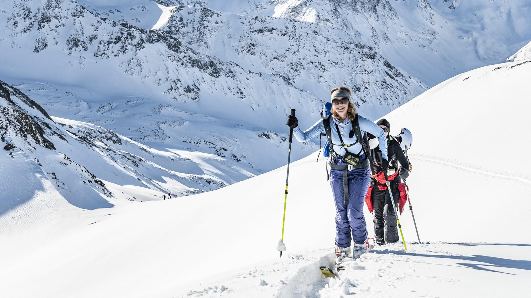Skitourengeher in St. Anton am Arlberg