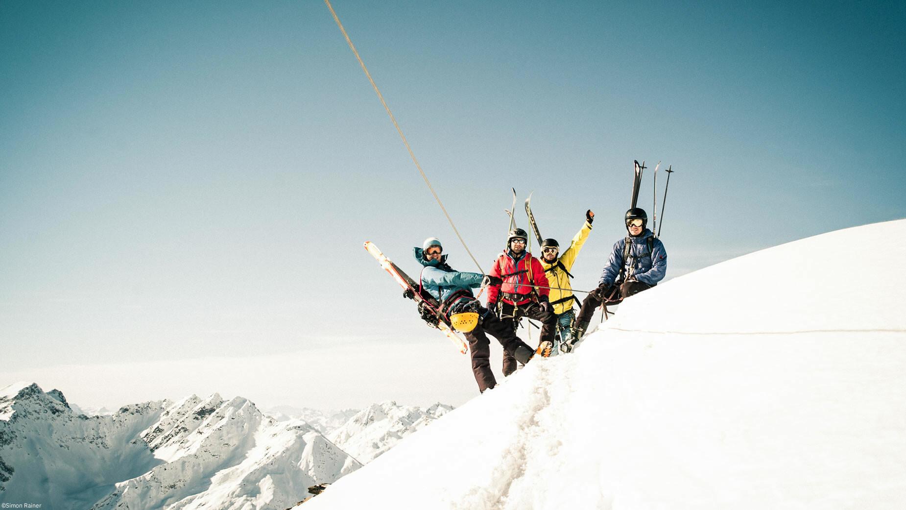 Arlberger Winterklettersteig am Rendl in St. Anton am Arlberg