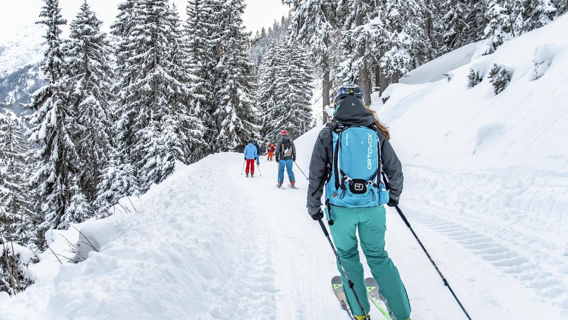 Skifahrer in St. Anton am Arlberg