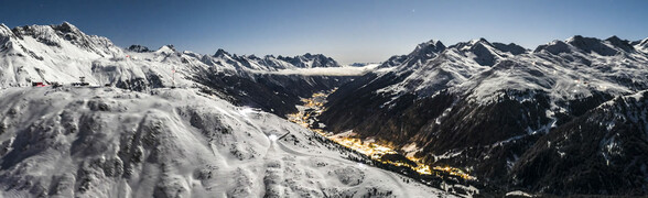 Panorama of the holiday region St. Anton am Arlberg