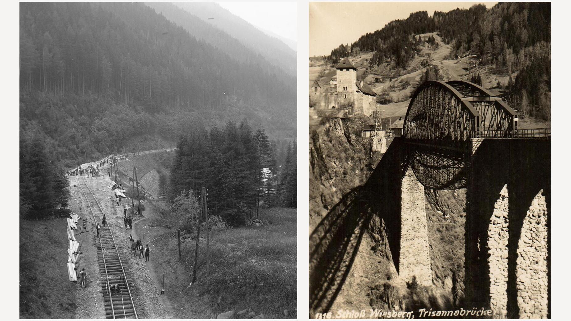 Bauarbeiten bei Arlberg-Bahn